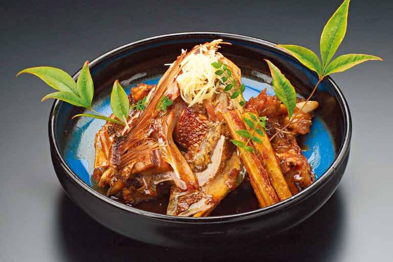 天然鯛の荒煮(一人前) 1,650円